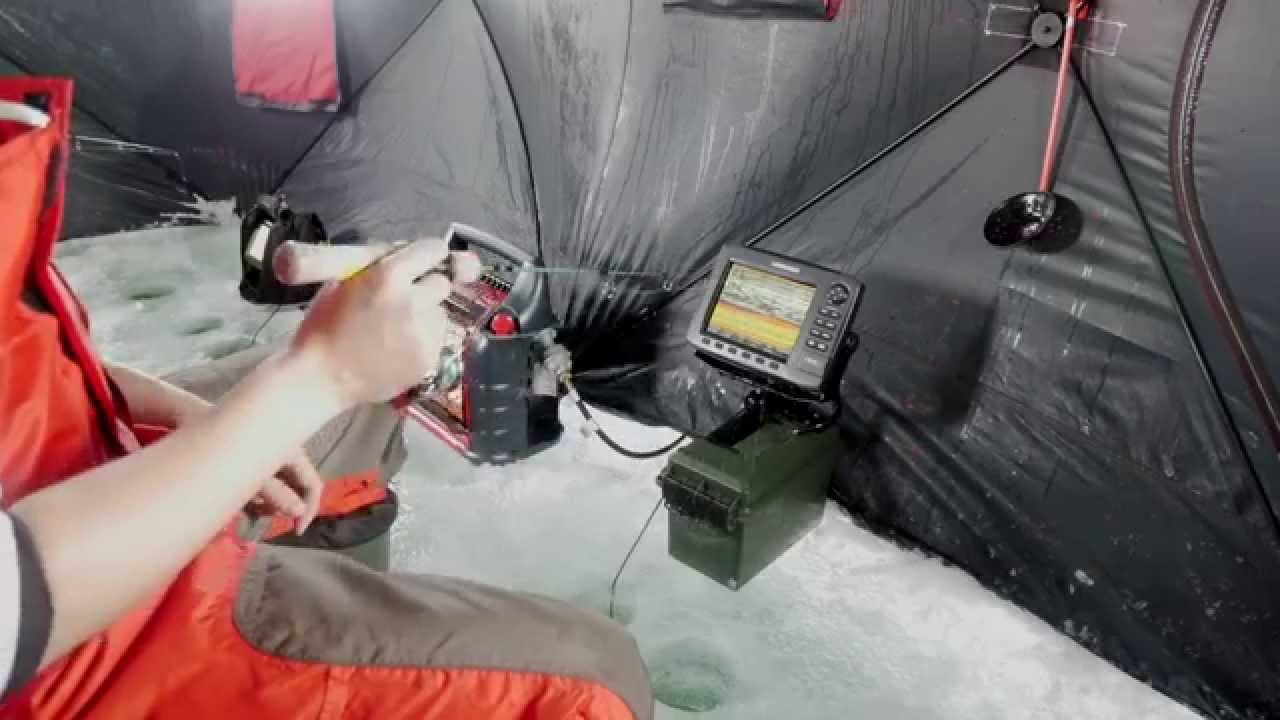 kevin's top tip] convert boat sonar for ice fishing - youtube, Fish Finder