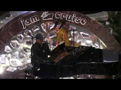 Ivan Neville solo piano set 1/8/14 Jam Cruise Atrium (Part 2 of 6)