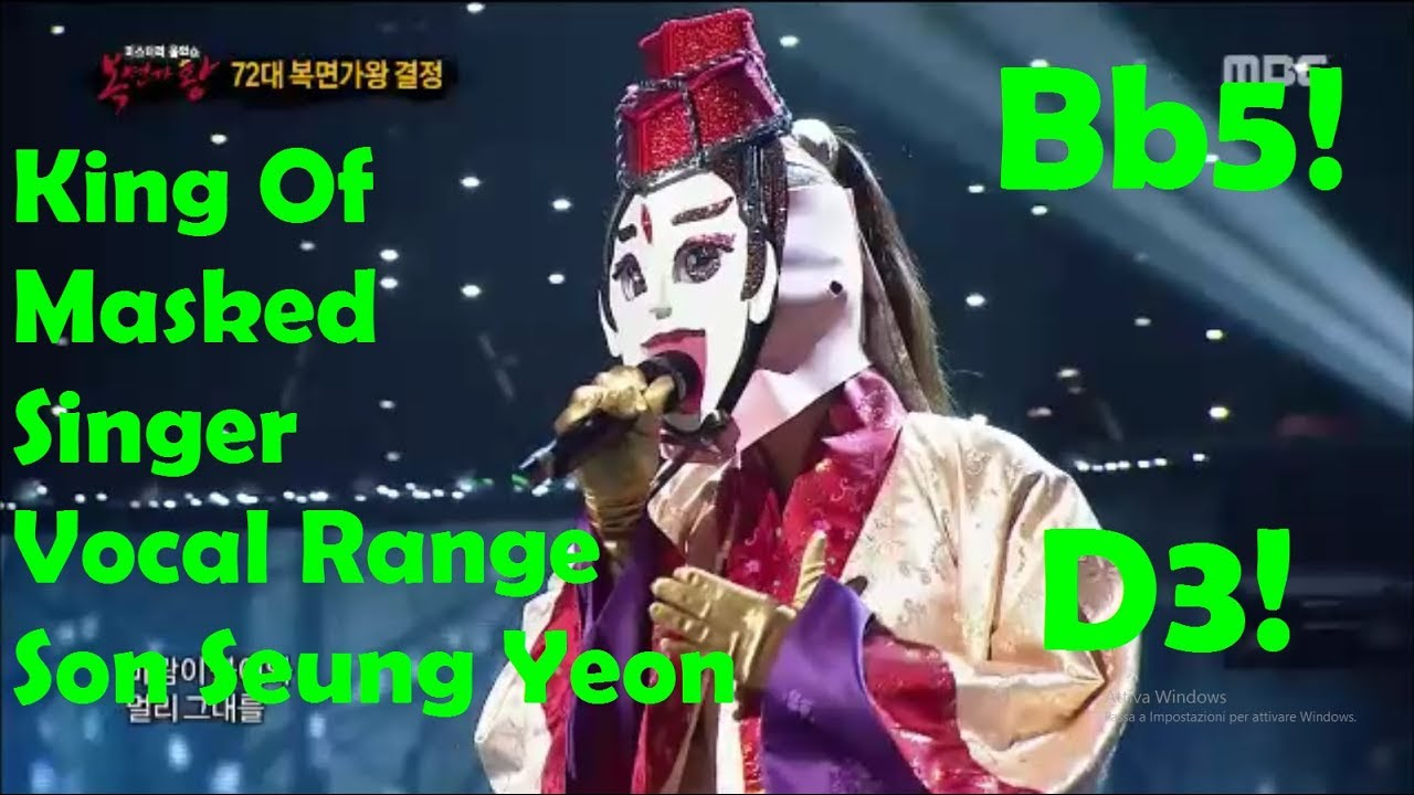 Son Seung Yeon [손승연] Vocal Range - King Of Masked Singers [복면가왕] (D3-Bb5-G5)
