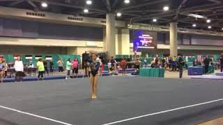 2107 Region 8 Level 7 regionals floor routine