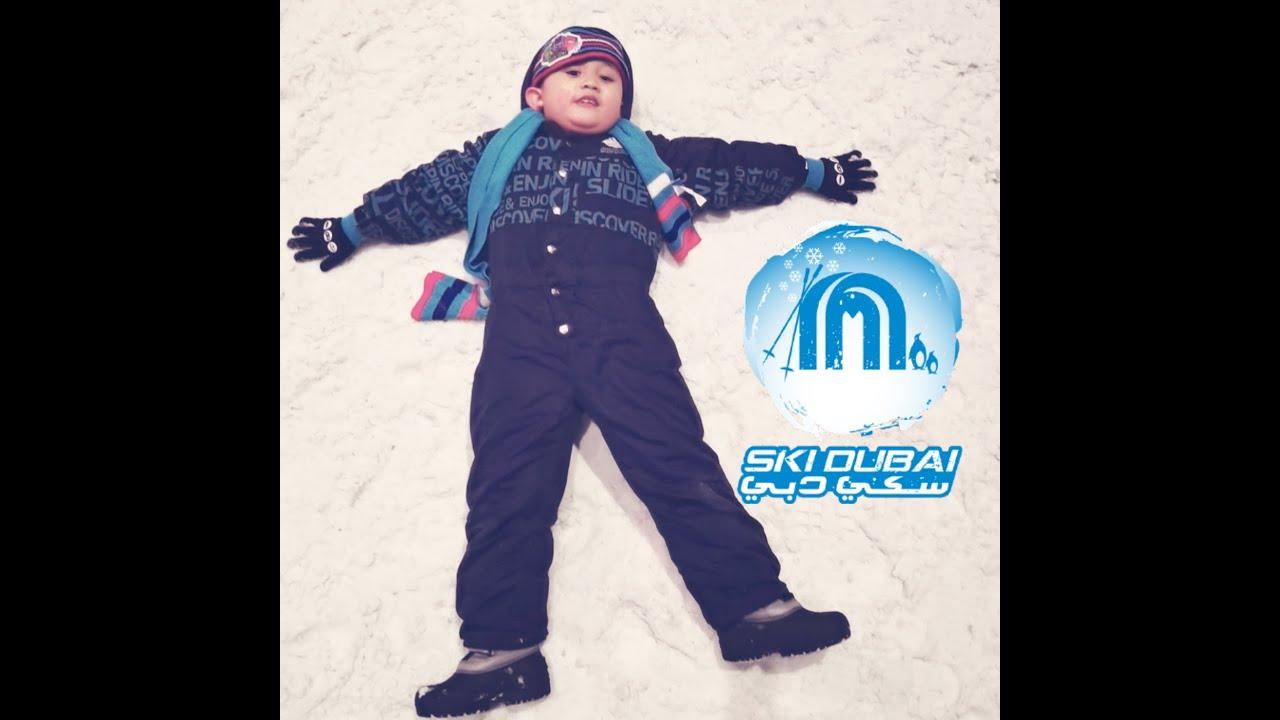 Snow Park in Ski Dubai    with Xian and Ethan!