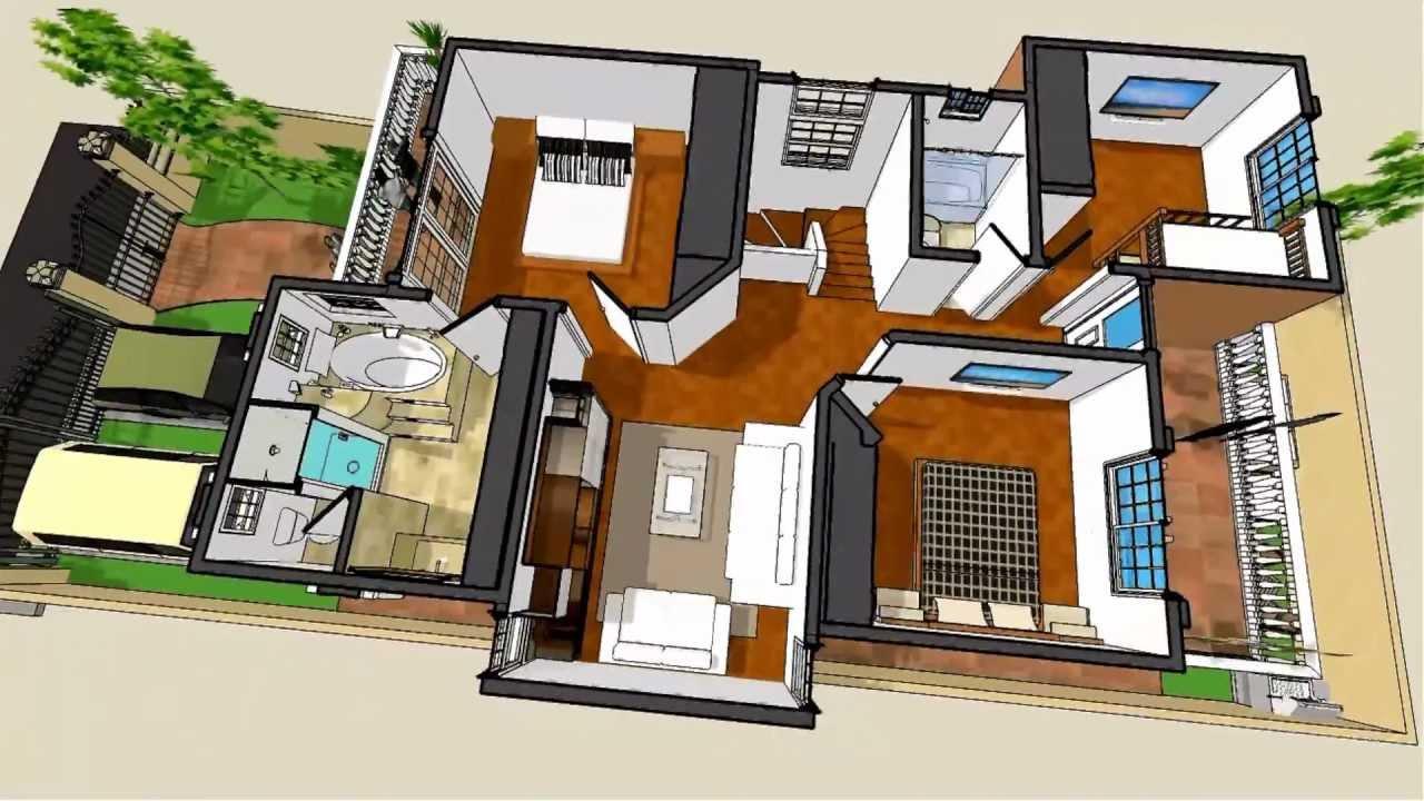 Planos de casas modelo san celso 50 arquimex planos de for Modelos de casas de una planta modernas