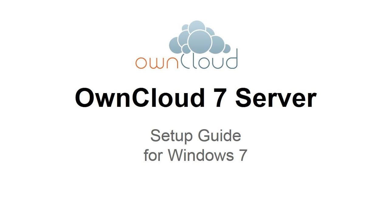 OwnCloud 7 Server Setup Windows 7 - YouTube