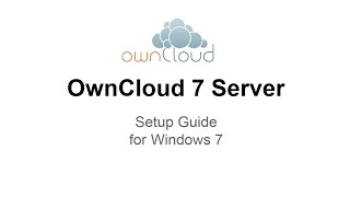 OwnCloud 7 Server Setup Windows 7