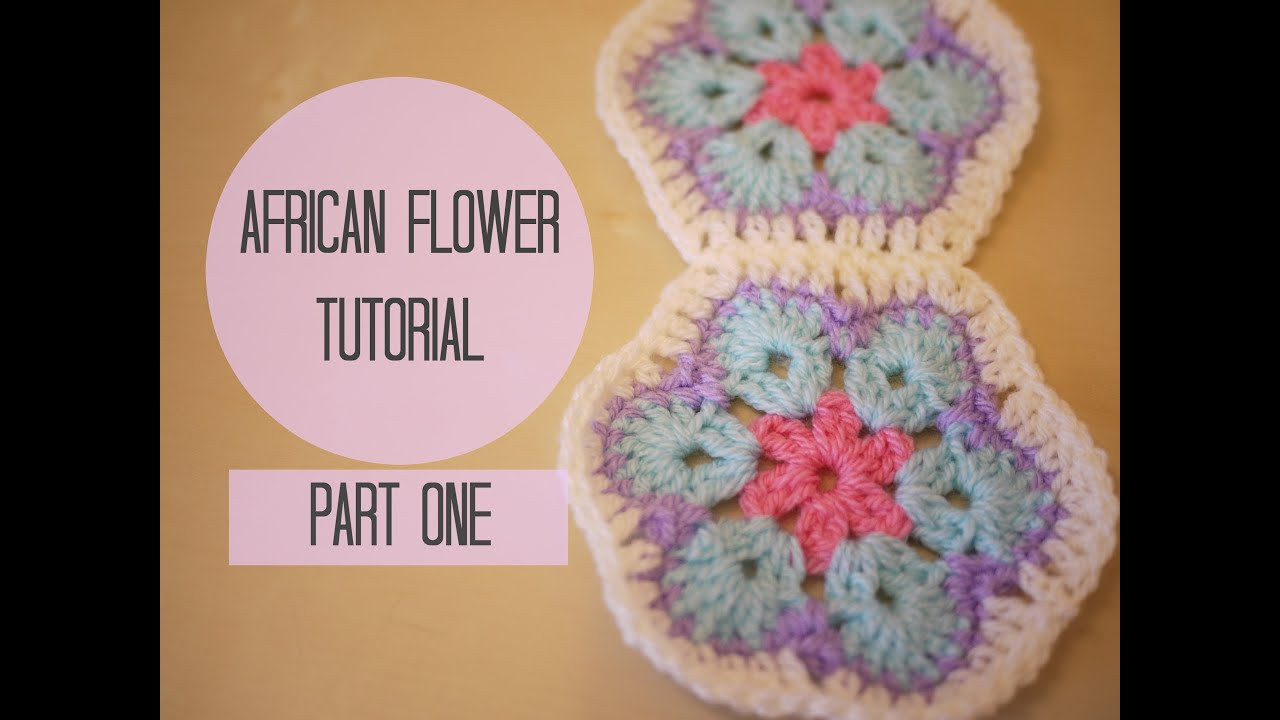 Crochet Tutorials On Youtube : CROCHET: African flower tutorial PART ONE Bella Coco - YouTube