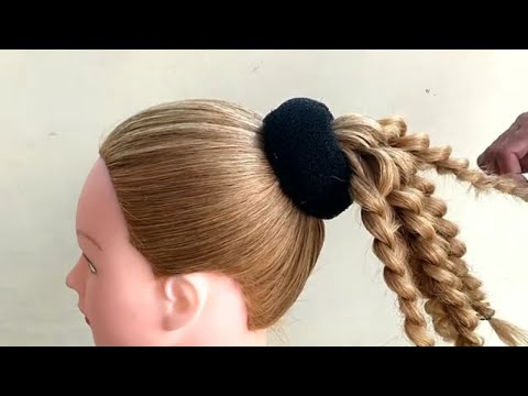 most-beautiful-hairstyle-for-wedding-or-party-|-different-wedding-party-hairstyles-|-bun-with-trick