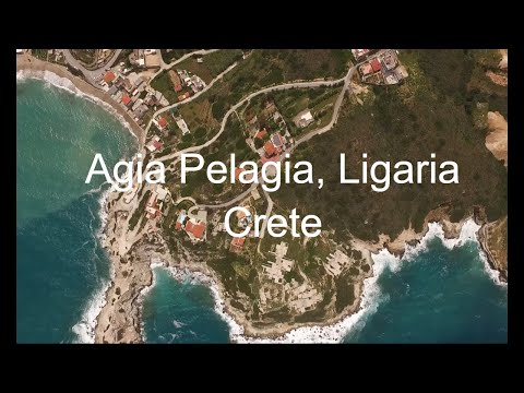 AGIA PELAGIA, LIGARIA CRETE, DRONE VIDEO HD 2019 wide