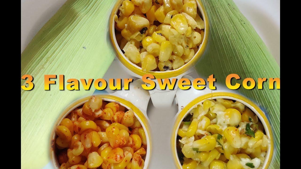 Download American Corn 3 Ways - Cheese Chilli , Masala & Butter Sweet Corn Recipe | CookingShooking