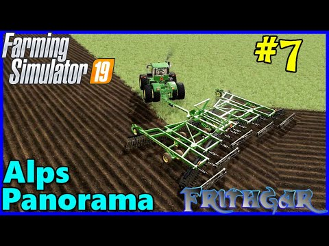 Let's Play FS19, Alps Panorama With Seasons #7: Ploughing The BIG Field!