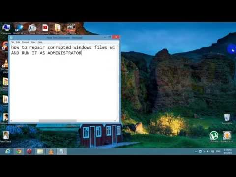 How to fix/repair your Computer for Corrupt Files in WINDOWS ( Without DVD) : Data Recovery