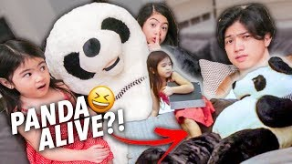 MOVING PANDA PRANK ON NATALIA!! (Her Reaction) | Ranz and Niana