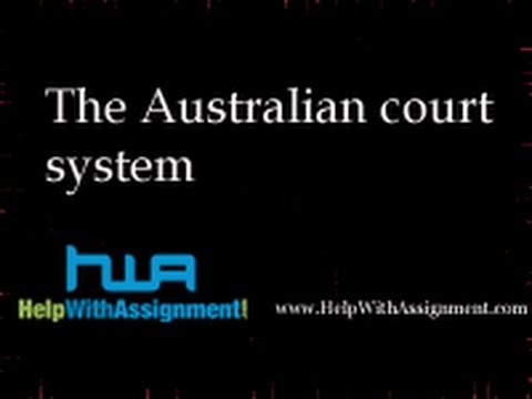 The Australian court system