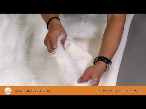 Solid Arctic Fox Fur Fabric