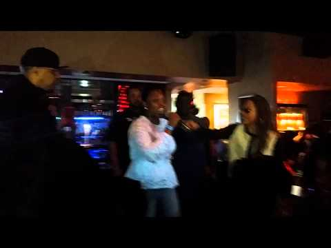 Sonya rapping MC Lyte @ 2015 CIAA