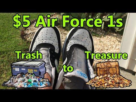 $5 Nike Air Force 1 Thrift Pickup - Slight Restoration + On Feet | Trash to Treasure @jb_yola