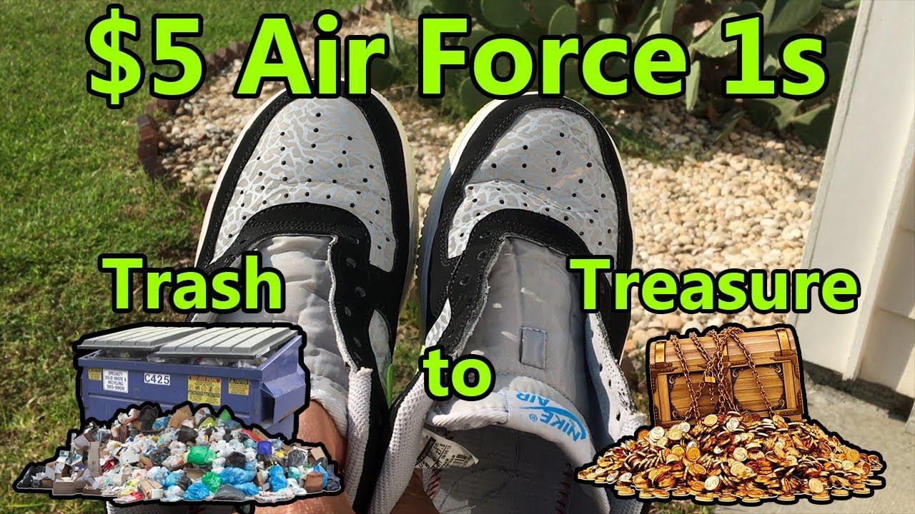 3fb0180c1587  5 Nike Air Force 1 Thrift Pickup - Slight Restoration + On Feet ...