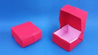 Origami: Ring Box / Gift Box | How to make a Ring Box! - Instructions in English (BR)