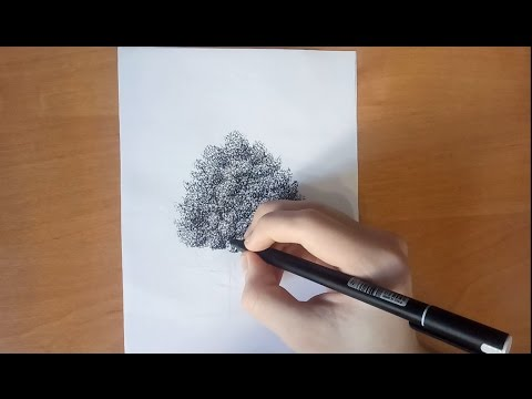 видео: how to draw a tree - Как Нарисовать Дерево