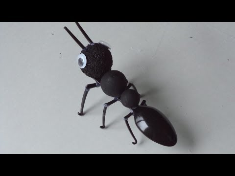 DIY Recycled Crafts for Adults Teens and Kids: How to Make an Ant out of Plastic Spoon