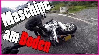 Motorradunfall auf Stilfser Joch | Motorrad umgeschmissen beim Helfen | ReiseVlog | Sluty