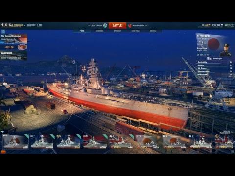 World of Warships Live - Prémium hajók ingyen újoncoknak - Texas farm és teszt  #2