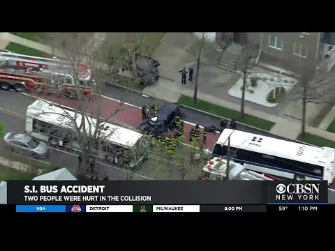 MTA Bus And SUV Collide On Staten Island