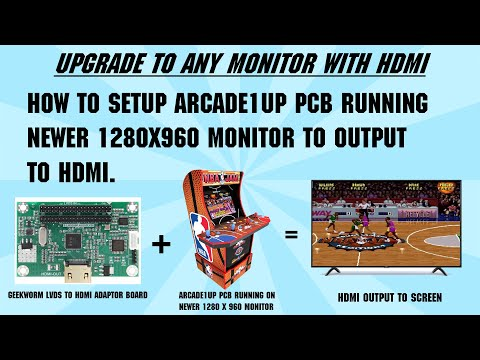 ARCADE1UP Mods: How To Setup Arcade1UP PCB Running Newer 1280x960 Monitor to Output to HDMI. from Shaun Watson