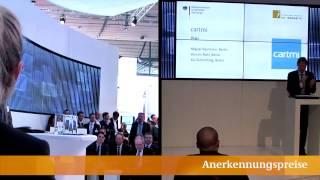 """Preisverleihung """"Gründerwettbewerb - IKT Innovativ"""", CeBIT 2014"""