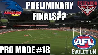 afl evolution pro mode ep 18 preliminary final disaster essendon vs adelaide