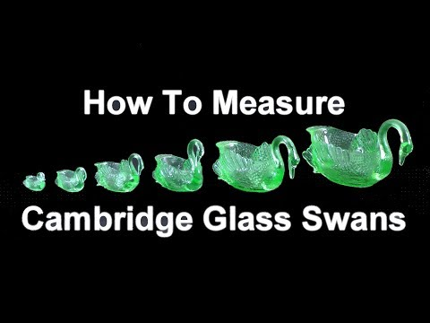 How to Measure Cambridge Glass Swans