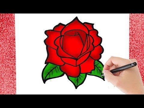 Wonderlijk HOE TEKEN JE EEN ROOS VOOR BEGINNERS? - YouTube JK-86