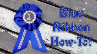 How to Make an Award Ribbon Learn how to make these award ribbon ea...