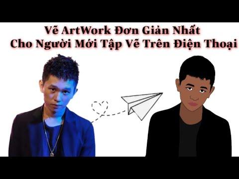 Vẽ ArtWork Đơn Giản Nhất Cho Người Mới Tập Vẽ Trên ĐT -(Infinite Painter) || Văn Toàn Design
