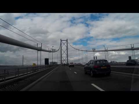 Afternoon Drive From Forth Road Bridge To Perth Perthshire Scotland