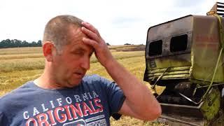 Spaliło się pole i kombajn