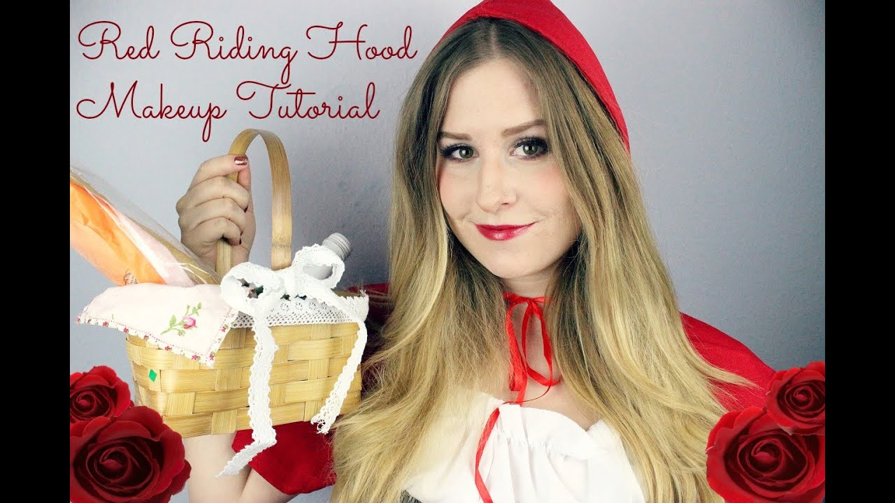 Red Riding Hood Makeup Tutorial Rotkappchen Karneval Youtube
