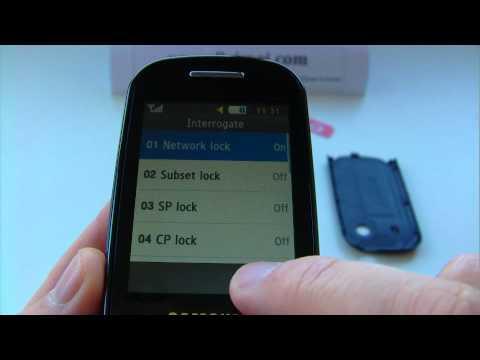 Samsung GT-B3410 Star TXT, B3410 Unlock & input / enter code.AVI