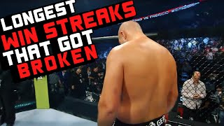 Longest Win Streaks That Got Broken In MMA