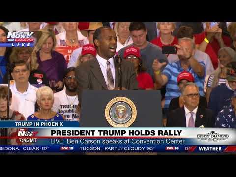 FNN: Dr. Ben Carson Speaks at President Trump's Phoenix Rally on Aug. 22, 2016