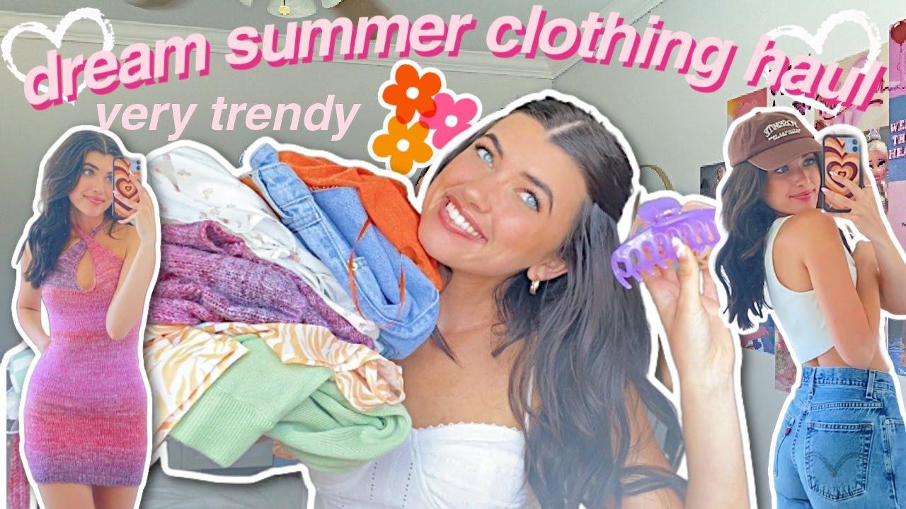 HUGE dream summer try on clothing haul- trendy & cute! 2021