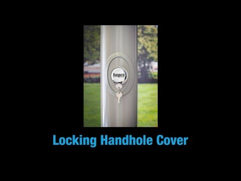 Hapco's Locking Handhole Cover Deters Copper Theft in Aluminum and Steel Lightpoles