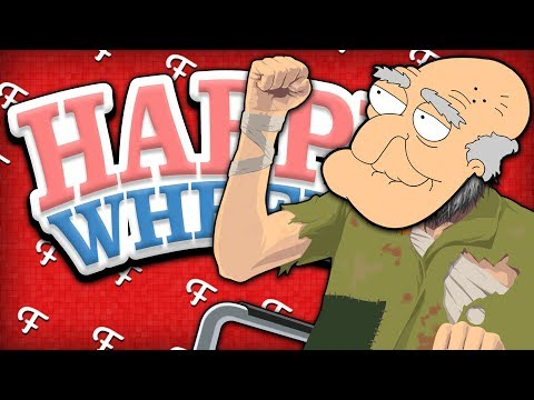 Happy Wheels: Only 1% Challenge, MLG Bottle Flip, My Enemy... Old Man Ninja! (Comedy Gaming)