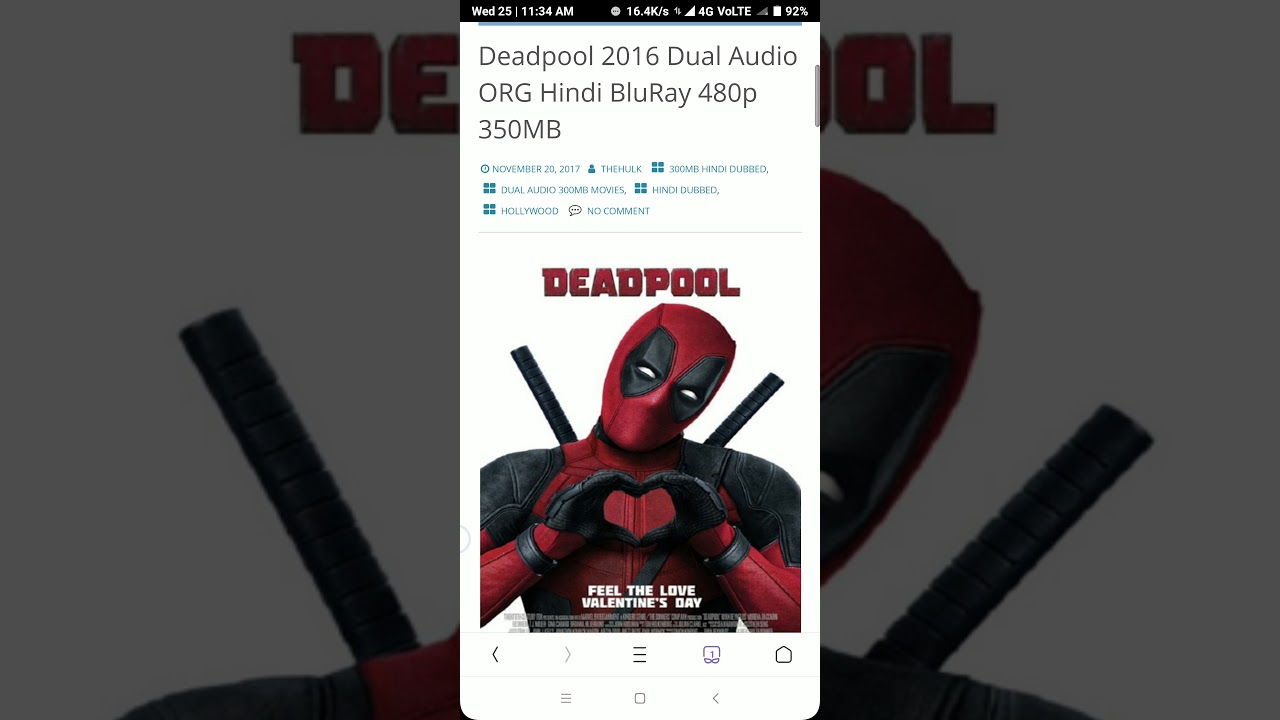 How To Download Deadpool Movie In Hindi In 480p Quality Youtube