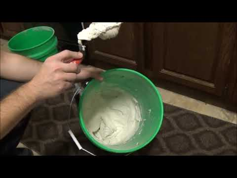 How to mix Mapei Keracolor U Unsanded Grout To Proper Consistency / Thickness