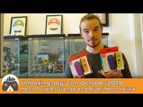 [Unboxing] Joy-Con Neon Orange, Neon Purple, Blue, And Neon Yellow