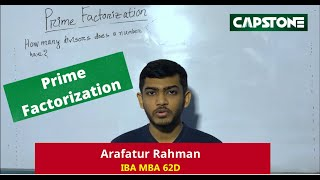 Finding factors/divisors by using Prime Factorization
