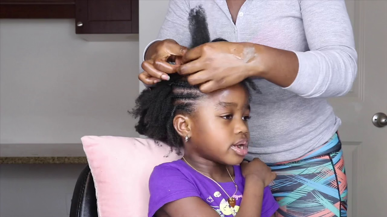 Kids Natural Hairstyles No Rubber Band Protective Style On 4c