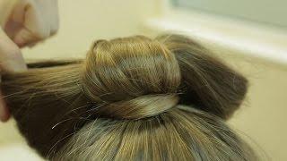 Простая прическа. Бантик из волос