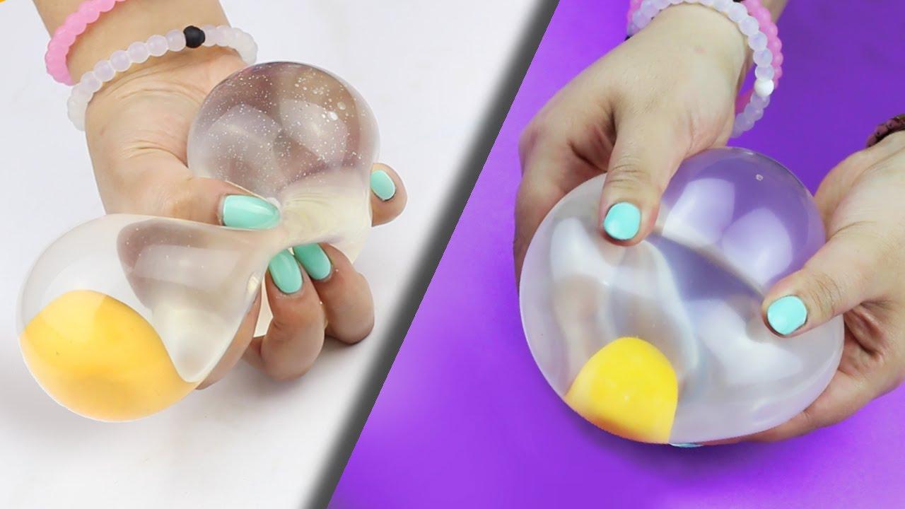 Diy Squishy Things : SQUISHY WATER EGG Stress Ball   DIY - YouTube