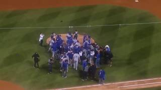 Dodgers Advance to World Series Final Out and Celebration NLCS Game 5 October 19th 2017